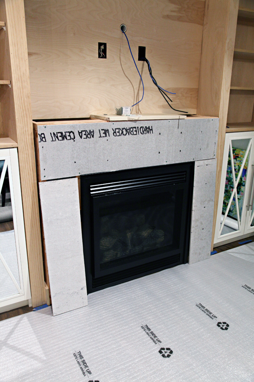 IHeart Organizing: DIY Fireplace Built