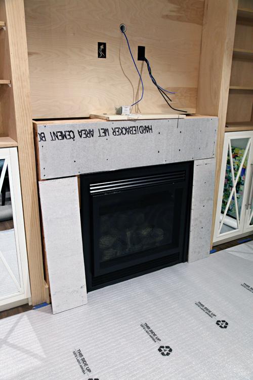 IHeart Organizing: DIY Fireplace Built