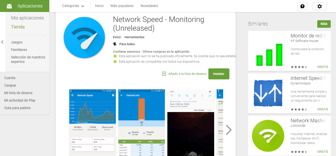 Descargar APK de Network Speed - Monitoring 1.0.1 beta Para tu Android