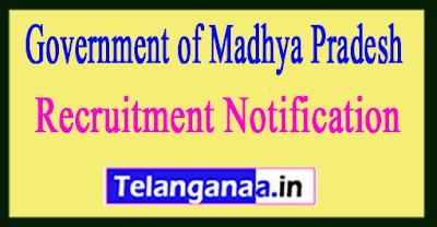 Government of Madhya Pradesh Recruitment Notification