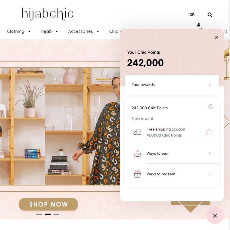 Point Rewards Belanja Online HijabChic