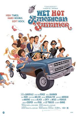 San Diego Comic-Con 2021 Exclusive Wet Hot American Summer Screen Print by JJ Harrison x Mondo