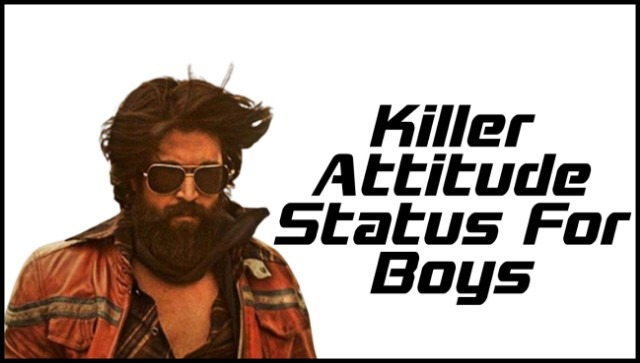 Best 2 Lines Killer Attitude Status In Hindi For Boys