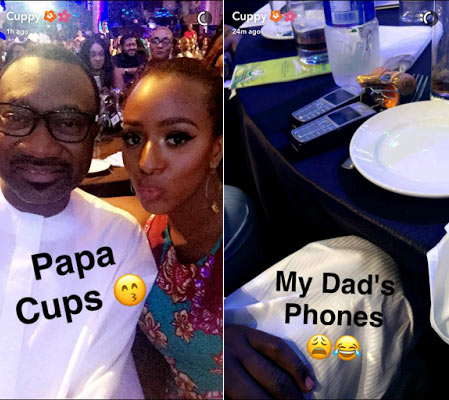 DJ Cuppy can't believe her billionaire dad Femi Otedola still uses Nokia torchlight phones