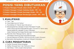 Lowongan Kerja BUMN PT Nindya Karya 2019