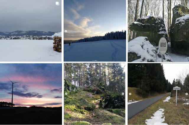 Collage Instagram-Fotos Februar 2021