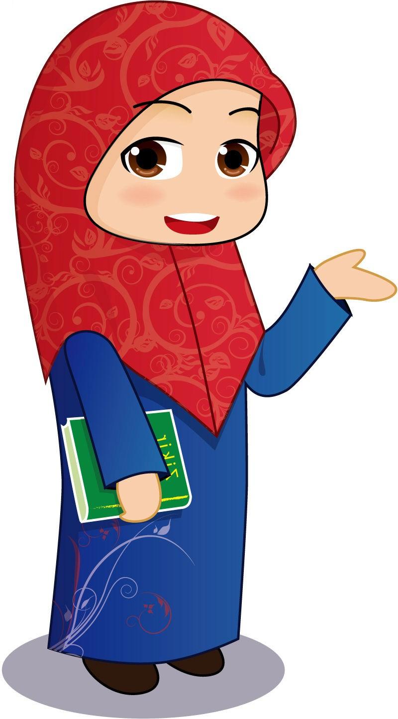 Gambar Kartun Ibu Guru Muslimah