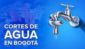 Cortes de agua hoy y mañana en  Bogotá