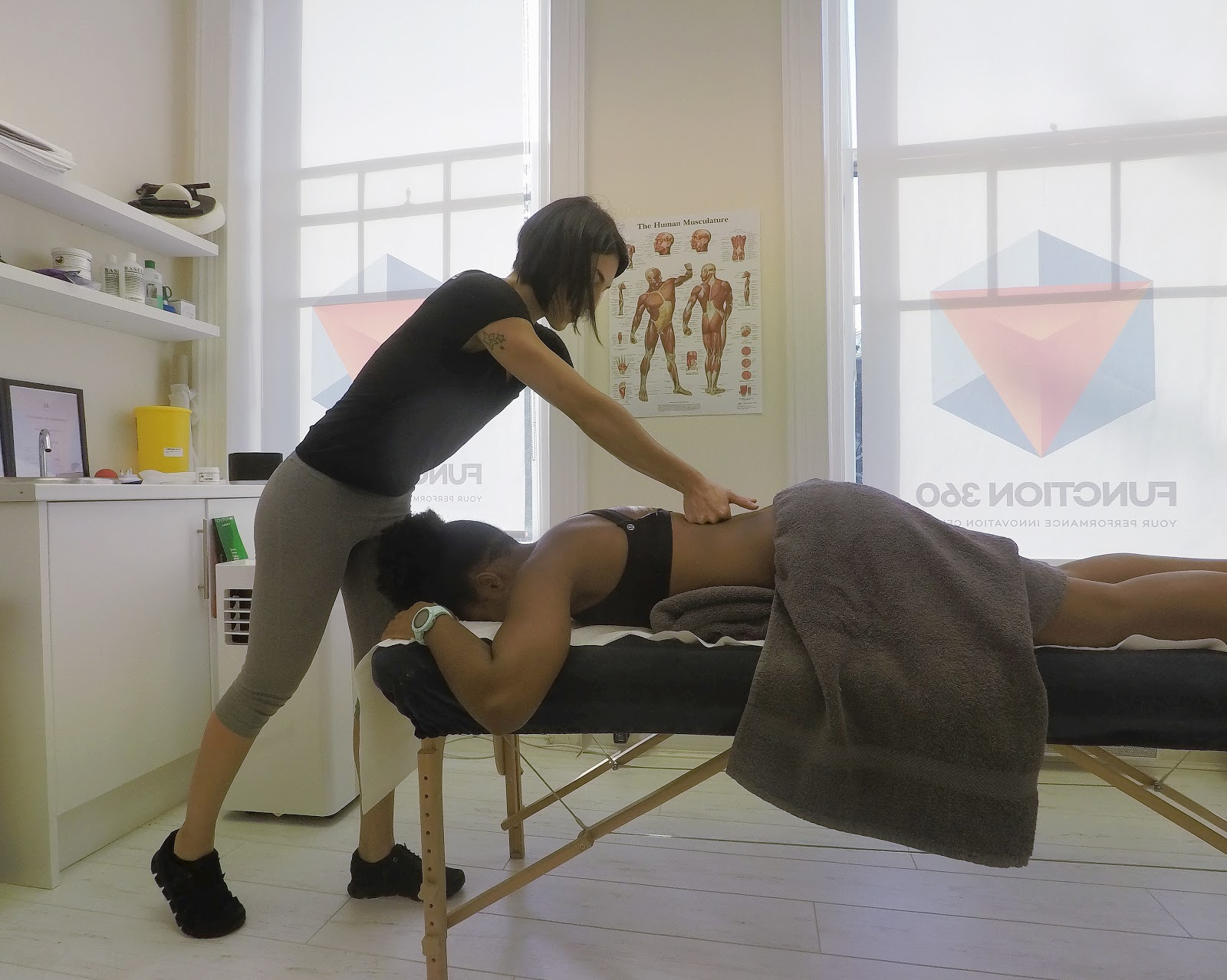 Myofascial Release at Function360 - Elle on the massage bed