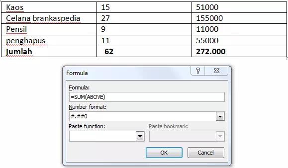 Cara Menambahkan Rumus ke Tabel di Microsoft Word-1