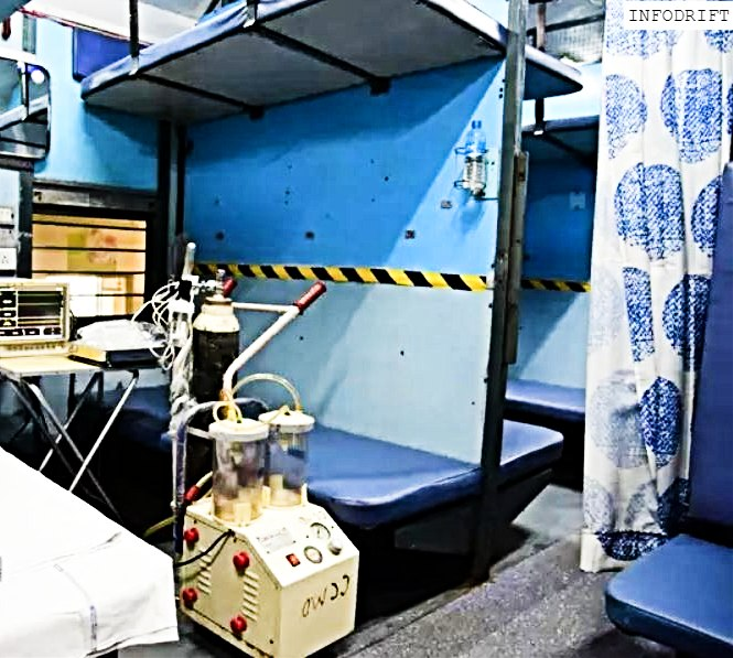 Train coaches as isolation wards