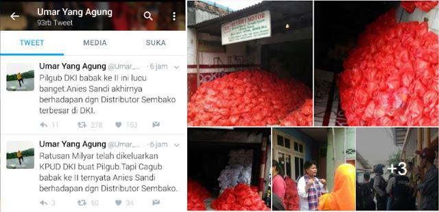 Kocak! Netizen ini Sebut Pilkada DKI Pertarungan Anies-Sandi Vs Distributor Sembako Terbesar di DKI