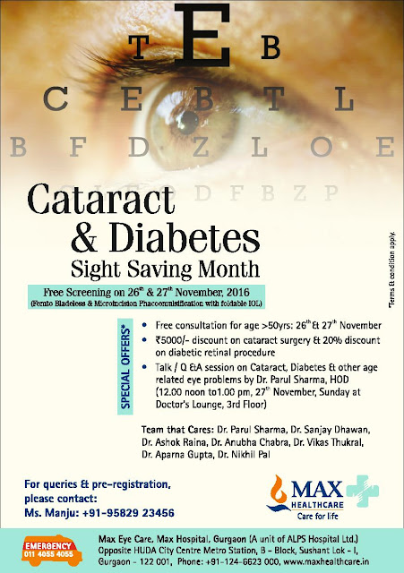 MHC Cataract Month Gurgaon - Mark you presence