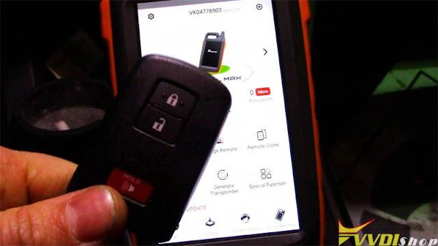 xhorse key tool max mini obd toyota 8a smart key 1