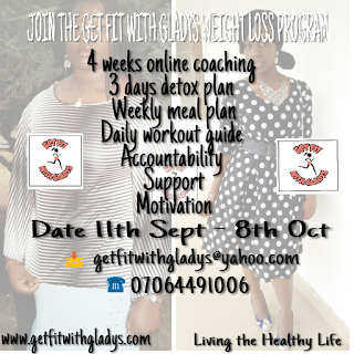 Join the Get Fit With Gladys September Weight Loss Program