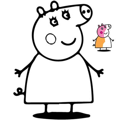 Printable Coloring Pages Pdf Peppa Pig Coloring Pages Printables