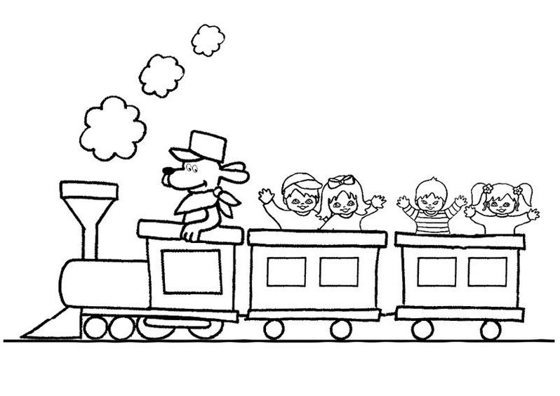 Hình tô màu đoàn tàu hỏa cho bé