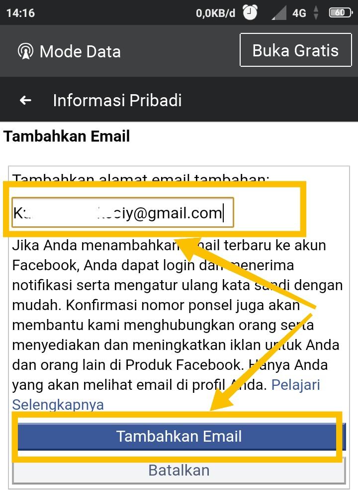 cara menghapus email facebook yang tersimpan