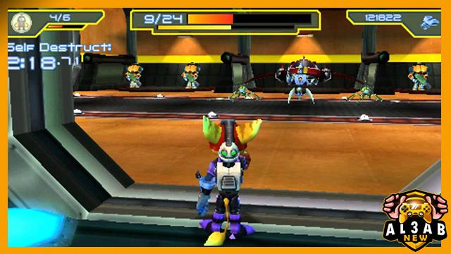 تحميل لعبة الاكشن Ratchet & Clank: Size Matters لأجهزة psp بصيغة iso مضغوطة من الميديا فاير