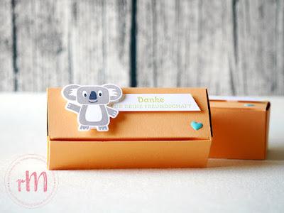 Stampin' Up! rosa Mädchen Kulmbach: Verpackung ohne Kleben mit Bonanza Buddies, Karte Diem und Post mit PS