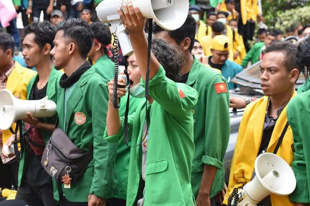 Jiharnews, Mahasiswa Pasee Demo DPRK Lhokseumawe