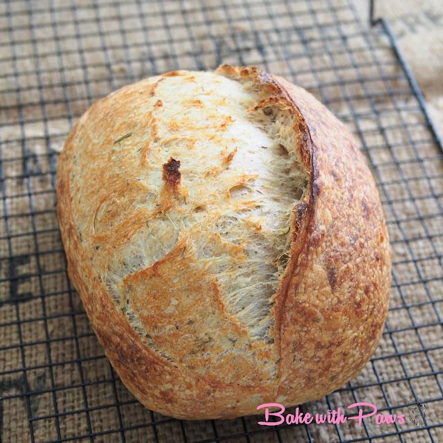 Herbed Open Crumb Sourdough Bread