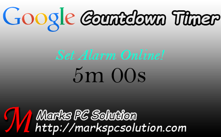 Google Countdown Timer | Marks PC Solution