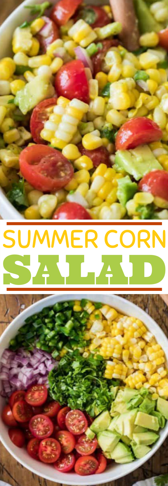 Summer Corn Salad #vegan #salad #glutenfree #healthy #veggies