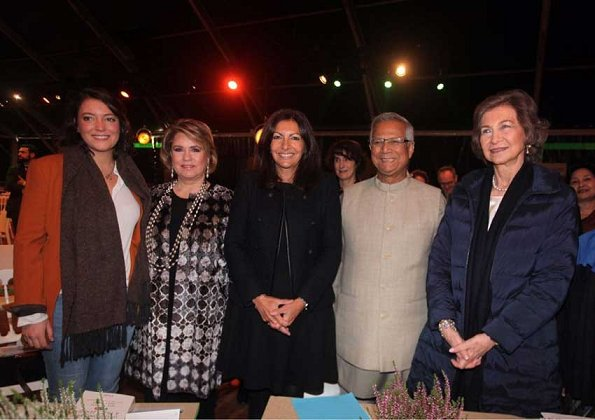 Queen Sofia, Grand Duchess Maria Teresa, Princess Alexandra, Professor Muhammad Yunus at Paris GSBS 2017