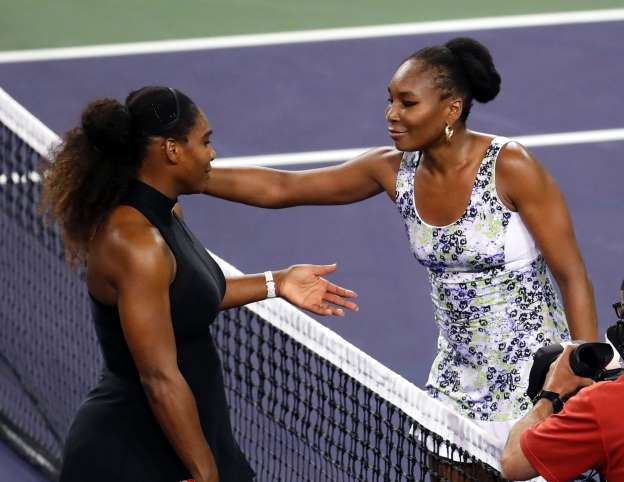 Serena Williams eliminated from Indian Wells by sister Venus