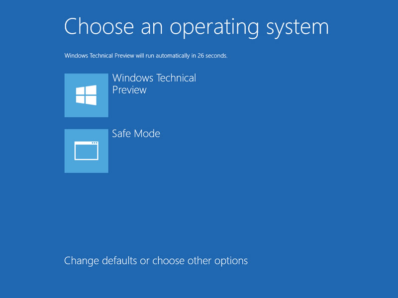 【Windows Technical Preview】セーフモード 15