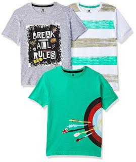 Cloth Theory Boy's Plain Regular fit T-Shirt