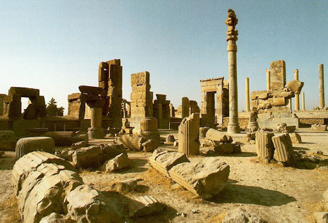 As ruínas da grande Babilônia