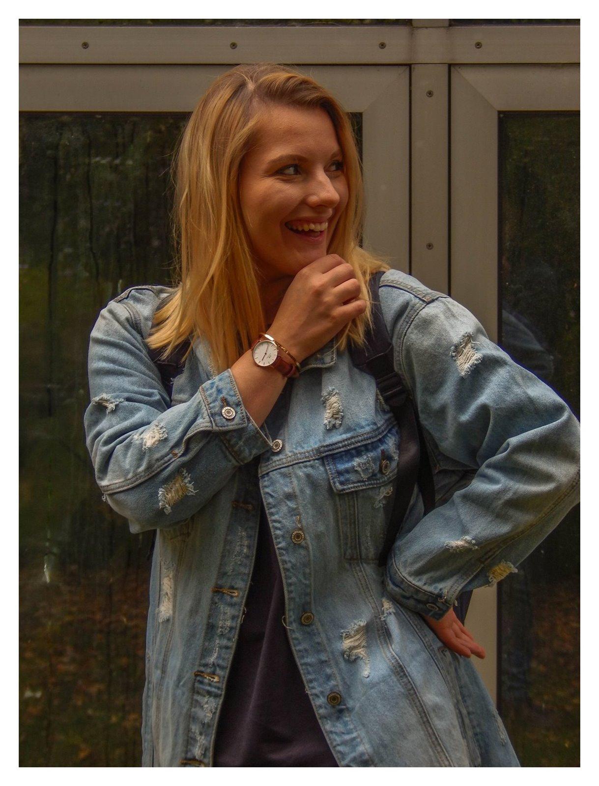11 jak wybrać kurtkę jeansową najmodniejsze fasony kurtek sukienek płaszczy jak ubierać blondynkę stylizacje short blonde hair hairstyle melody łódź blog lifestyle fashion