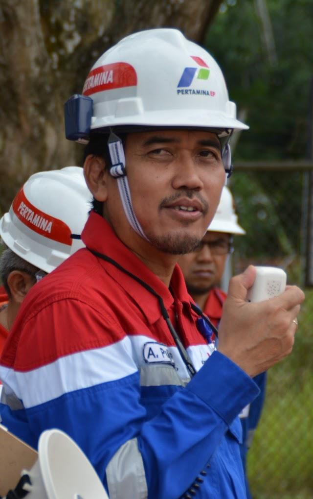 Tingkatkan Produksi, Pertamina EP Prabumulih Bor Sumur TLJ-34INF