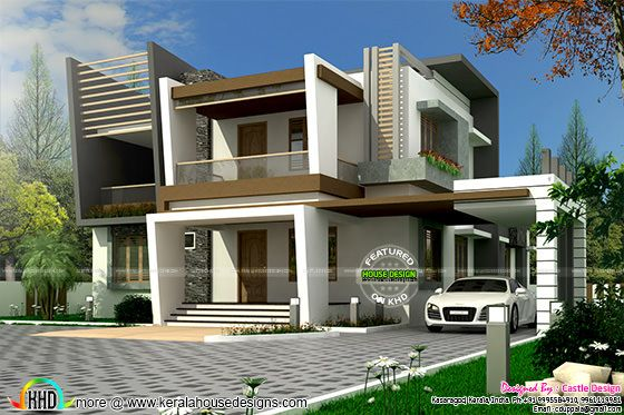 Contemporary style front elevation