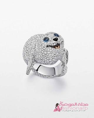 قطع مجوهرات جميلة بتصاميم مختلفة من الماس