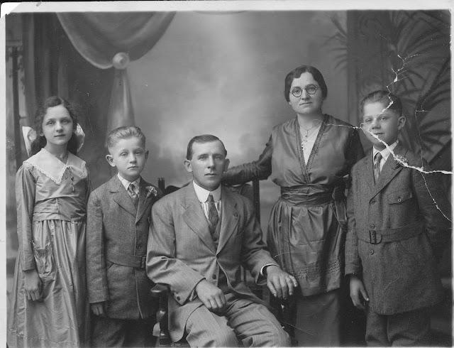 The Anna Roerich Urban family: Madeline, George, John Joseph, Anna, son John