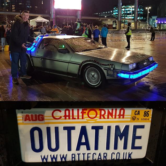 DeLorean time machine at MediaCity in Salford