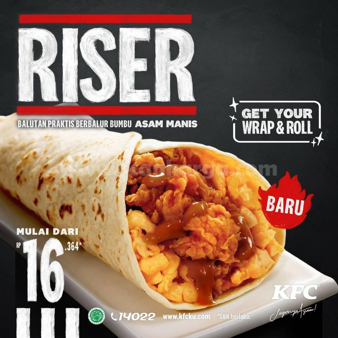 KFC RISER! Promo Menu BARU KFC harga mulai Rp 16.364