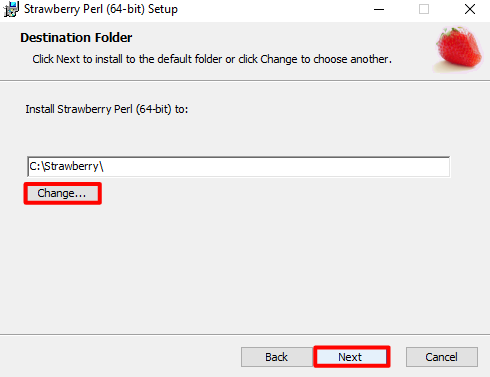 Strawberry perl download and installation Tutorial for Windows 10