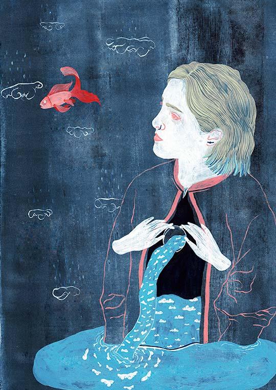 Ilustración y pintura emotiva por Natalia Bzdak