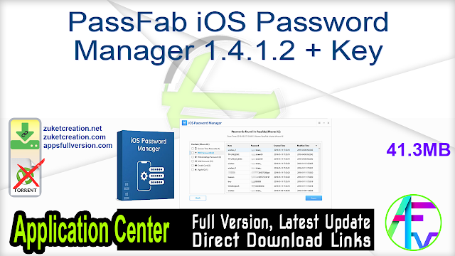 PassFab iOS Password Manager 1.4.1.2 + Key