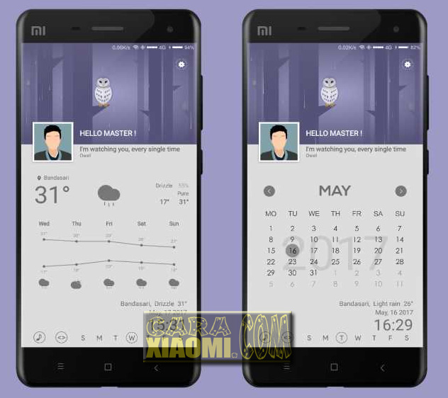 Download Tema Xiaomi Owell Mtz For MIUI V8 Theme Terbaru