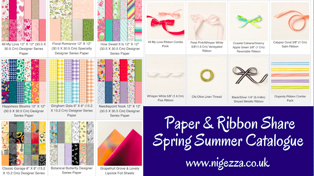 Nigezza Creates Paper & Ribbon Share Spring Summer 2019