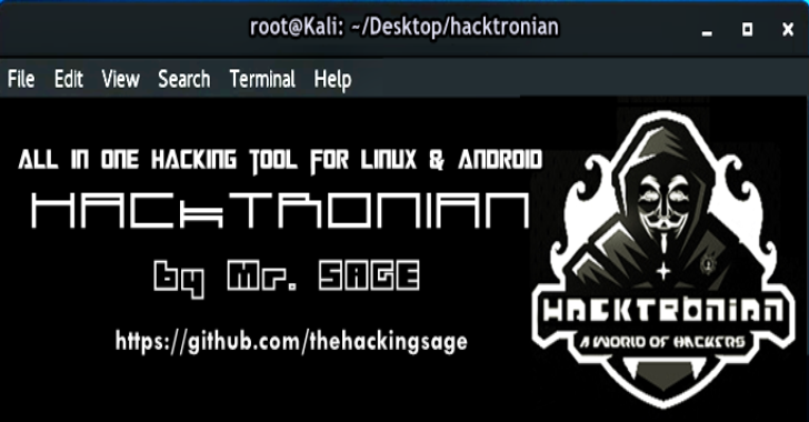 Hacktronian : All in One Hacking Tool for Linux & Android