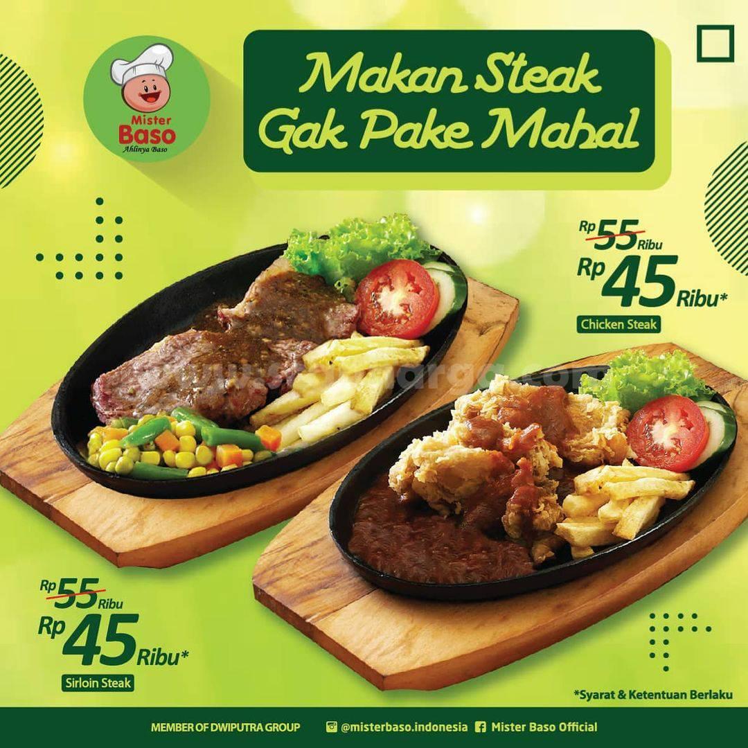 Promo MISTER BASO - harga spesial Menu Steak Mulai Dari Rp 45 Ribu