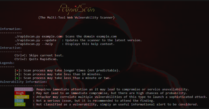 RapidScan : The Multi-Tool Web Vulnerability Scanner