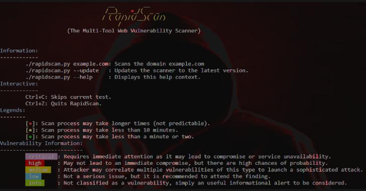RapidScan : The Multi-Tool Web Vulnerability Scanner