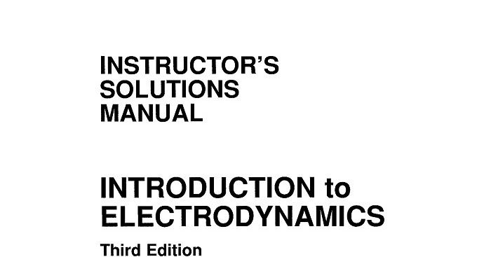Instructor's Solutions Manual Introduction to